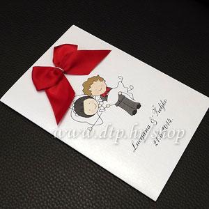 0000pz06514 Pozivnica ili zahvalnica za vjenčanje s tiskom