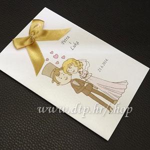 0000pz06714 Pozivnica ili zahvalnica za vjenčanje s tiskom