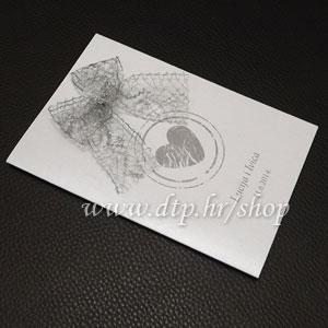 0000pz06814 Pozivnica ili zahvalnica za vjenčanje s tiskom
