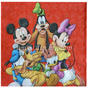 81644 MINNIE, Mickey SALVETE 20/1 33x33cm